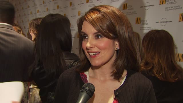 Tina Fey talking about getting the award first starting out in the business and how her career has exceeded all of her expectations at the 2009...