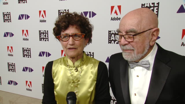 tina hirsch & alan heim on what it means to receive the lifetime achievement award from ace at the 70th annual ace eddie awards in los angeles, ca... - 生涯功労賞点の映像素材/bロール