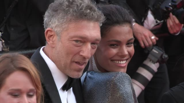 tina kunakey vincent cassel and more on the red carpet for the premiere of les filles du soleil at the cannes film festival 2018 saturday 12 may 2018... - 71st international cannes film festival stock videos & royalty-free footage