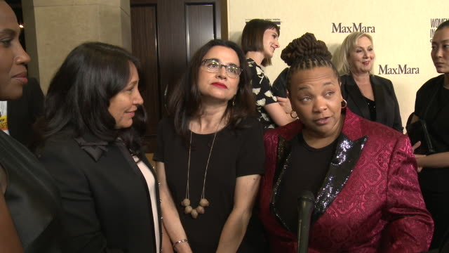 interview tina mabry at 2019 women in film annual gala presented by max mara with additional support from partners delta air lines and lexus at the... - delta air lines stock-videos und b-roll-filmmaterial