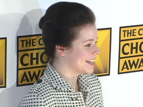tina majorino at the 10th annual critics choice awards arrivals at wiltern theater in los angeles california - tina majorino stock videos and b-roll footage