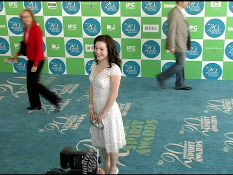 tina majorino at the 20th annual independent spirit awards arrivals and interviews at santa monica in santa monica california on february 26 2005 - tina majorino stock videos and b-roll footage
