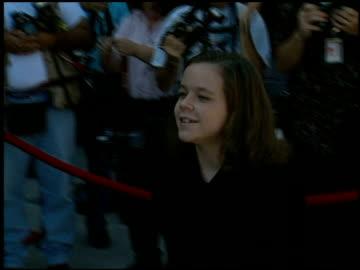 stockvideo's en b-roll-footage met tina majorino at the family film awards at cbs television city in los angeles, california on august 22, 1996. - tina majorino