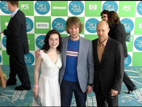 tina majorino jon heder and jon gries at the 20th annual independent spirit awards arrivals and interviews at santa monica in santa monica california... - tina majorino stock videos and b-roll footage