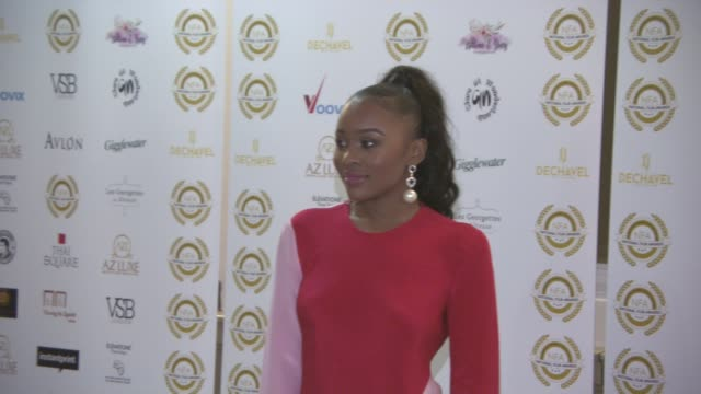 tinea taylor at the 4th annual national film awards at porchester hall on march 28, 2018 in london, england. - ポーチェスター点の映像素材/bロール