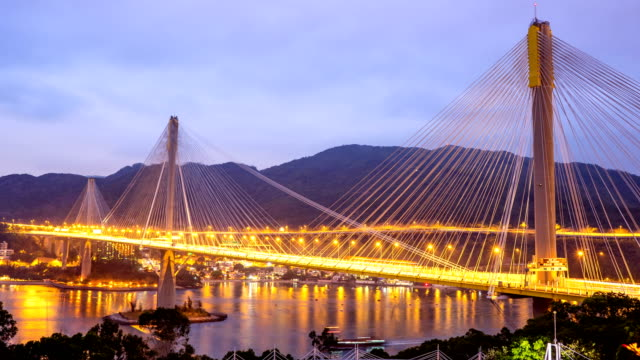 Ting Kau bridge, Hong Kong time lapse.