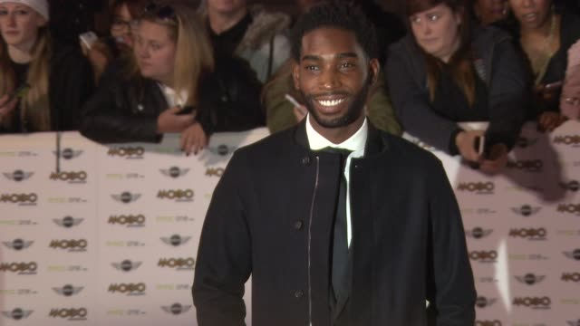tinie tempah at mobo awards 2014 at wembley arena on october 22, 2014 in london, england. - wembley arena stock videos & royalty-free footage