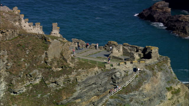 Tintagel  - Aerial View - England, Cornwall, United Kingdom
