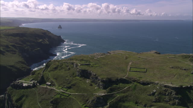 tintagel castle - english culture stock videos & royalty-free footage
