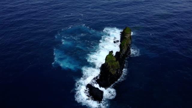 Tiny Island off Coast of Maui Island by Drone