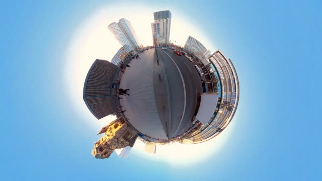 tiny planet berlin - 360° time lapse - 360 video stock videos & royalty-free footage
