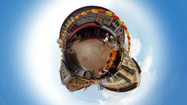 Tiny Planet Chinatown Singapore - 360° Time lapse