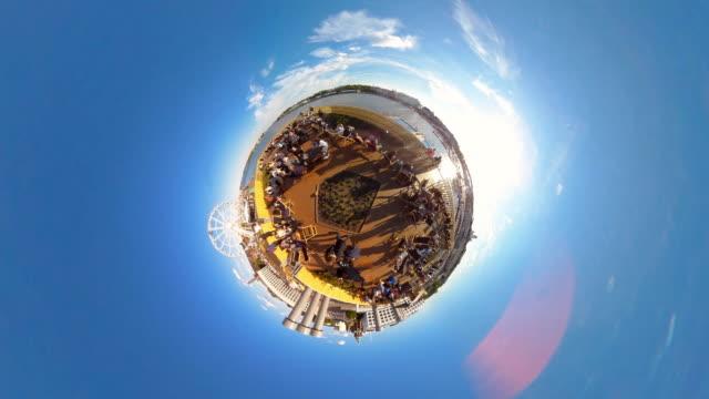tiny planet helsinki allas sea pool - 360° time lapse - big wheel stock videos & royalty-free footage