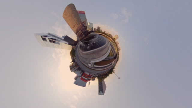 tiny planet of modern mexico city - small stock videos & royalty-free footage