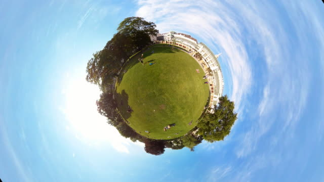 tiny planet park in vienna - 360° time lapse - traditionally austrian stock videos & royalty-free footage