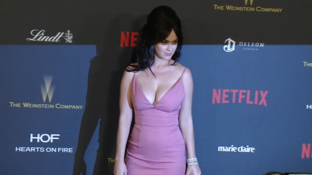 tiny prints gratitude lounge & arrivals at the weinstein company & netflix 2016 golden globes after party - malin åkerman stock videos & royalty-free footage