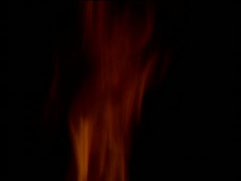 tip of flames burning against black - burning stock-videos und b-roll-filmmaterial