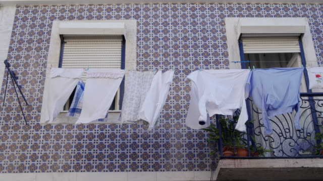 tipical portuguese home - balcony stock videos & royalty-free footage