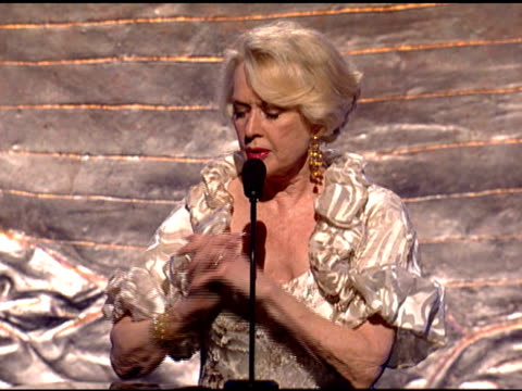 tippi hedren accepting genesis lifetime award at the 24th genesis awards at beverly hills ca. - tippi hedren stock videos & royalty-free footage