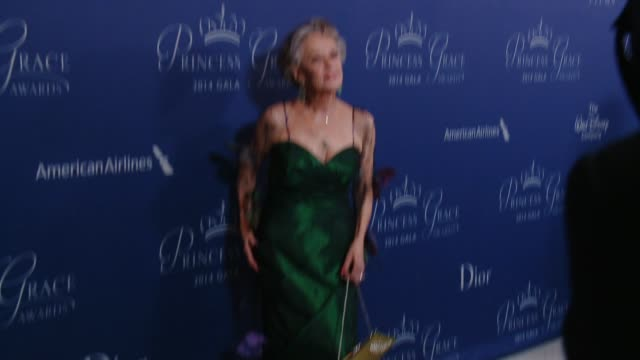 tippi hedren at 2014 princess grace awards gala with presenting sponsor christian dior couture in los angeles, ca 10/8/14 - tippi hedren stock videos & royalty-free footage