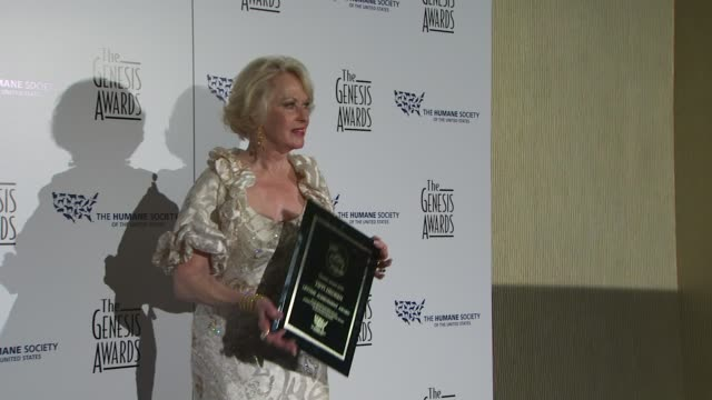tippi hedren at the 24th genesis awards at beverly hills ca. - tippi hedren stock videos & royalty-free footage