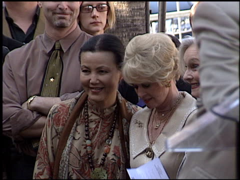 tippi hedren at the dediction of tippi hedren's walk of fame star at the hollywood walk of fame in hollywood, california on january 30, 2003. - tippi hedren stock videos & royalty-free footage