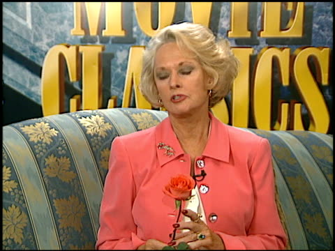tippi hedren at the hitchcock ladies at ritz carlton in pasadena, california on july 12, 1997. - tippi hedren stock videos & royalty-free footage