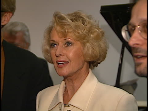 tippi hedren at the judy garland biography party at museum of tv, beverly hills in beverly hills, ca. - tippi hedren stock videos & royalty-free footage