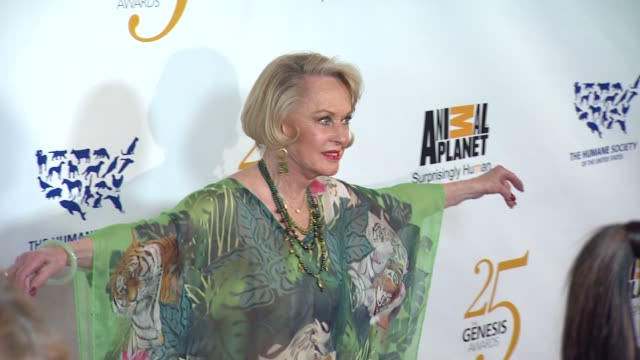 tippi hedren at the the 25th anniversary genesis awards presented by the humane society of the united states at century city ca. - tippi hedren stock videos & royalty-free footage