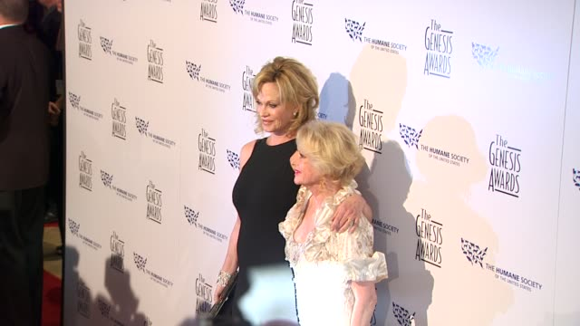 tippi hedren, melanie griffith at the 24th genesis awards at beverly hills ca. - tippi hedren stock videos & royalty-free footage