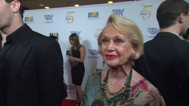 tippi hedren on the event, 25 years of progress at the the 25th anniversary genesis awards presented by the humane society of the united states at... - tippi hedren stock videos & royalty-free footage
