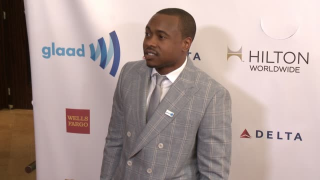 stockvideo's en b-roll-footage met tiq milan at the 25th annual glaad media awards at the beverly hilton hotel on april 12 2014 in beverly hills california - beverly hilton hotel