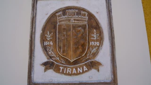 tirana city sign - tirana stock videos & royalty-free footage