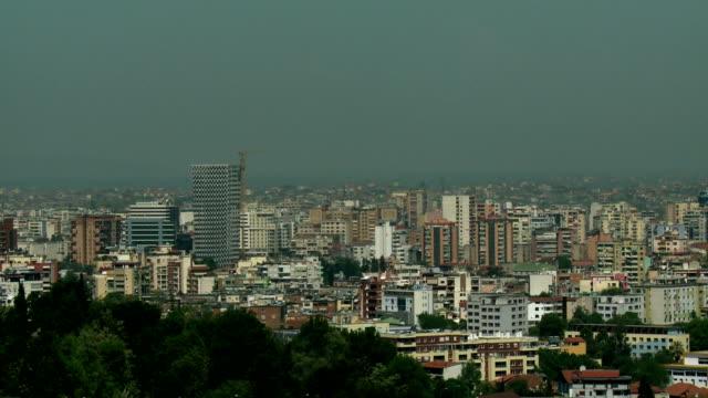 tirana landscape - albania stock videos & royalty-free footage