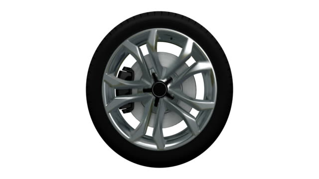 tire blurred motion loopable spin with luma matte - wheel stock videos & royalty-free footage