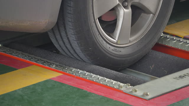 tire test - vehicle inspection - safety stock videos & royalty-free footage