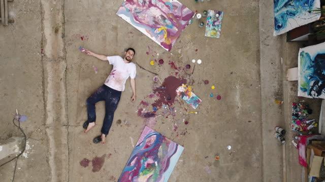 Tired artist