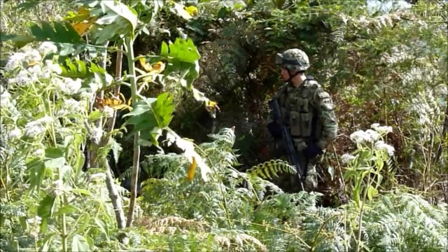 tired of being caught in the crossfire between the army and farc guerrillas indigenous people in southern colombia decided to take up arms and expel... - army stock videos & royalty-free footage