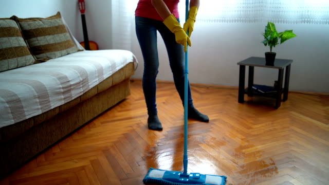 tired of housework - wooden floor stock videos & royalty-free footage