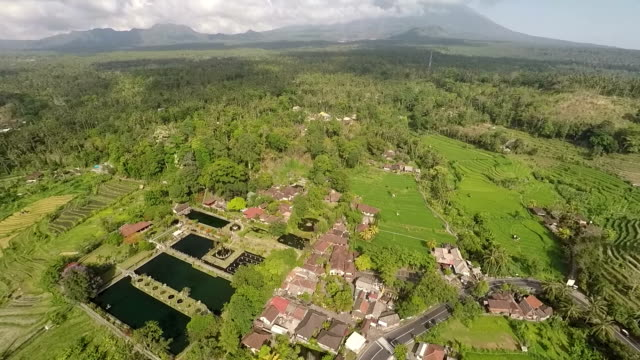 Tirta Gangga Water Palace and Its Surrounding Countryside, Wide Shot