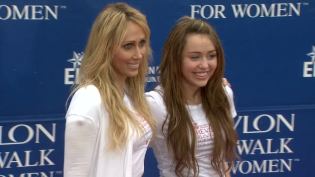 Tish Cyrus Miley Cyrus at the 16th Annual EIF Revlon Run/Walk For Women at Los Angeles CA