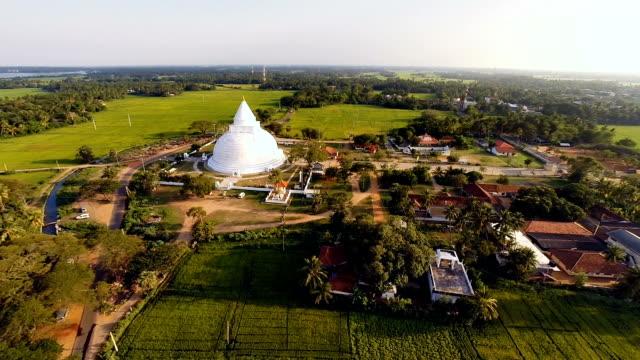 Tissamaharama Stupa from air
