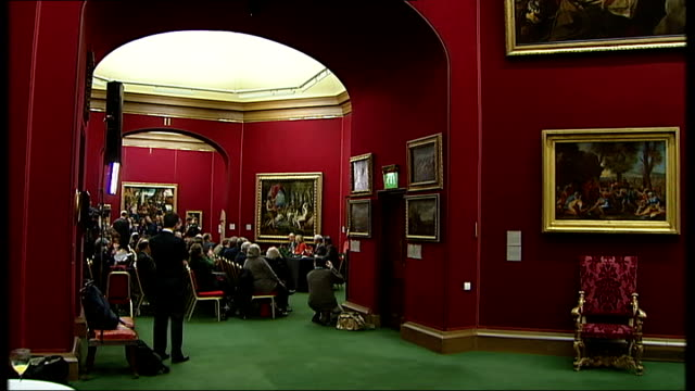 titian saved for the nation after public appeal scotland edinburgh national gallery of scotland int reporter to camera gv press conference underway... - raphaël haroche stock videos & royalty-free footage