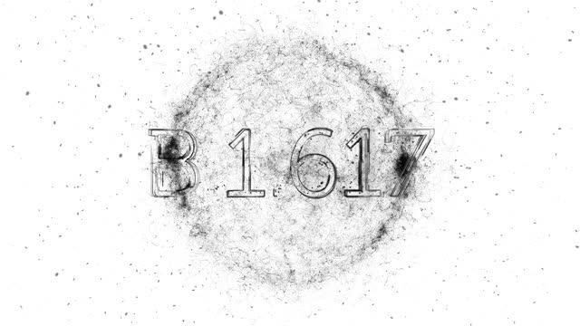 b.1.617 title animation - genetic mutation stock videos & royalty-free footage