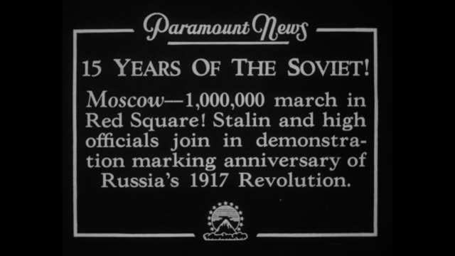 15 years of the soviet moscow 1000 march in red square stalin and high officials join in demonstration marking anniversary of russia's 1917... - dictator stock videos & royalty-free footage
