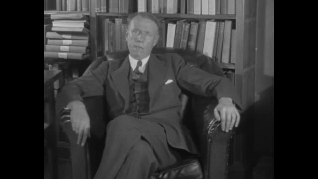 1930's 'prize author' new york sinclair lewis creator of 'babbitt' wins $46000 nobel literary prize never before awarded an american writer / author... - nobel prize in literature stock videos & royalty-free footage