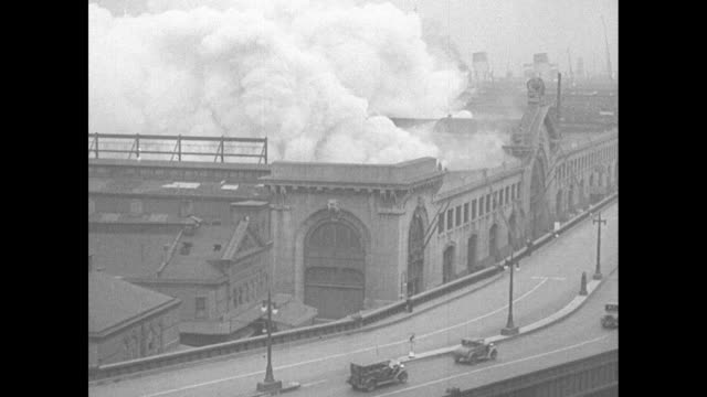 $2000 pier blaze defies ny firemen for 2 days flames destroy cunard line dock despite efforts of 40 companies and 6 fireboats / three aerial shots... - fire hose stock videos and b-roll footage