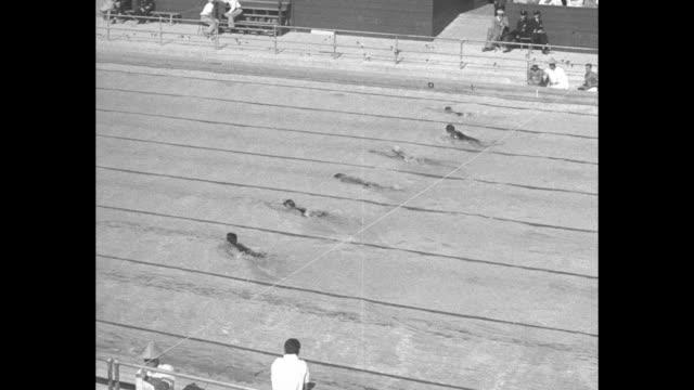 200 Meter BreastStrokeMen Won by Yoshiyuki Tsuruta Japan Time 2454 / VS competition start swimming finish