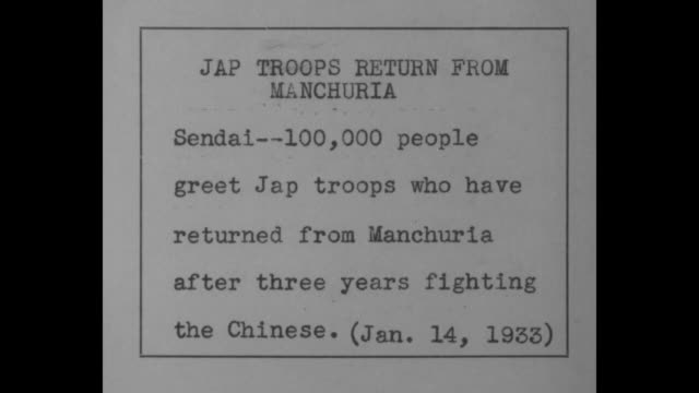 a hero comes home sendai 100000 welcome japanese general and veteran manchurian troops lt gen tamon receives ovation for successes against chinese /... - 将校点の映像素材/bロール