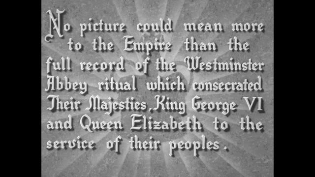 adolph zukor presents the empire's hour of glory / title card superimposed over graphic of crown never before has the solemn and significant... - フットマン点の映像素材/bロール